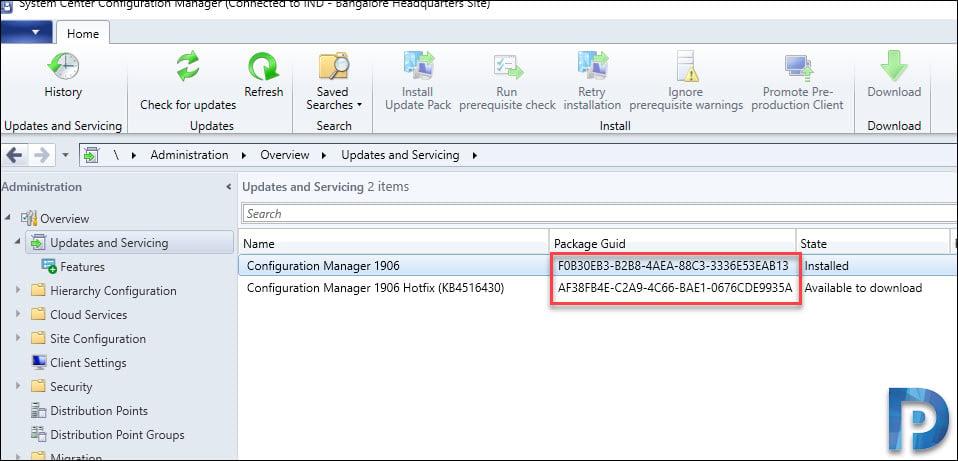 Package GUID of KB4516430