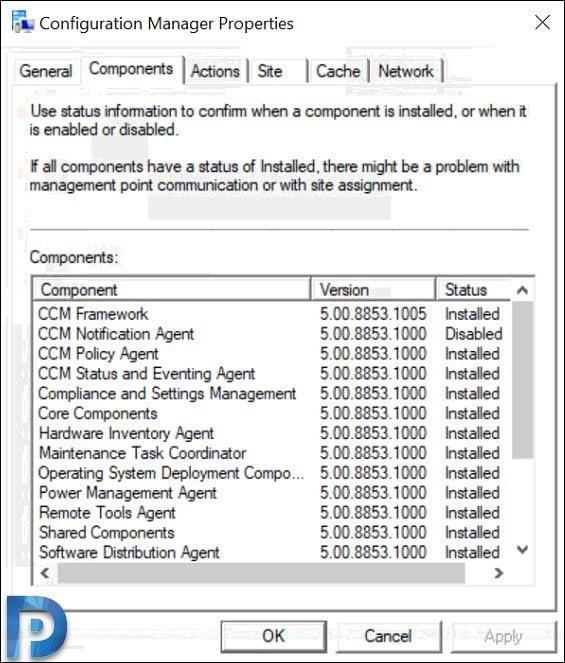SCCM Client Components