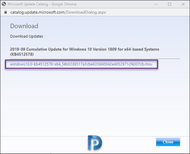 Download Windows 10 Cumulative Update