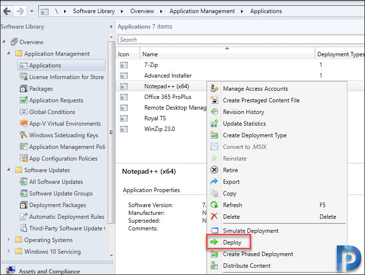 Deploy third-party applications with SCCM
