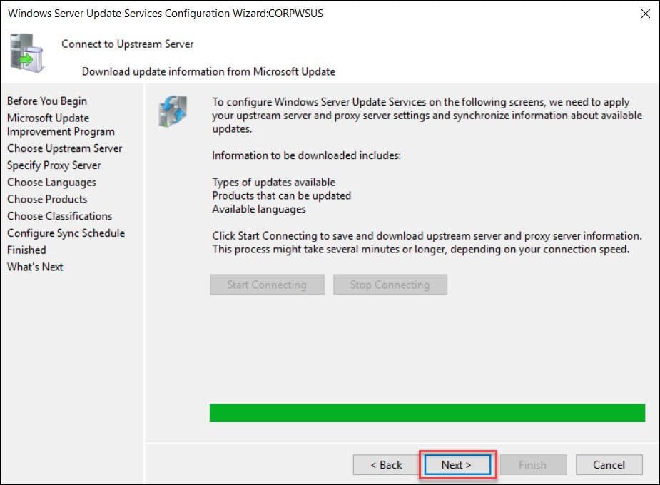 Download Update Information from Windows Update