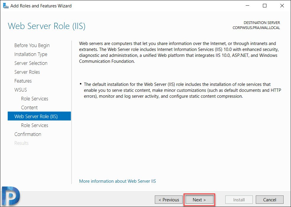 Web Server Role IIS