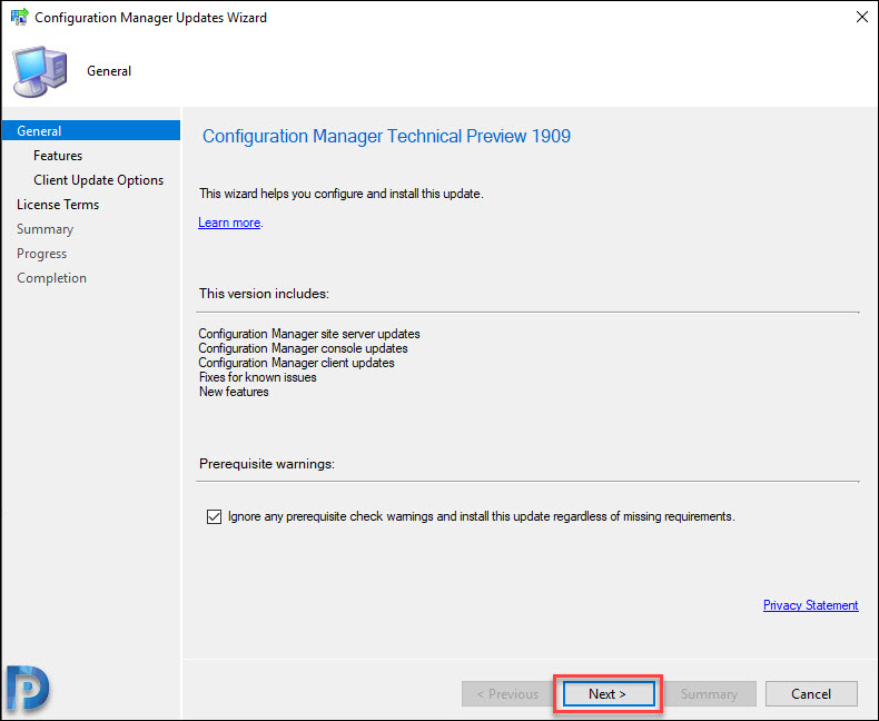Install SCCM Technical Preview 1909
