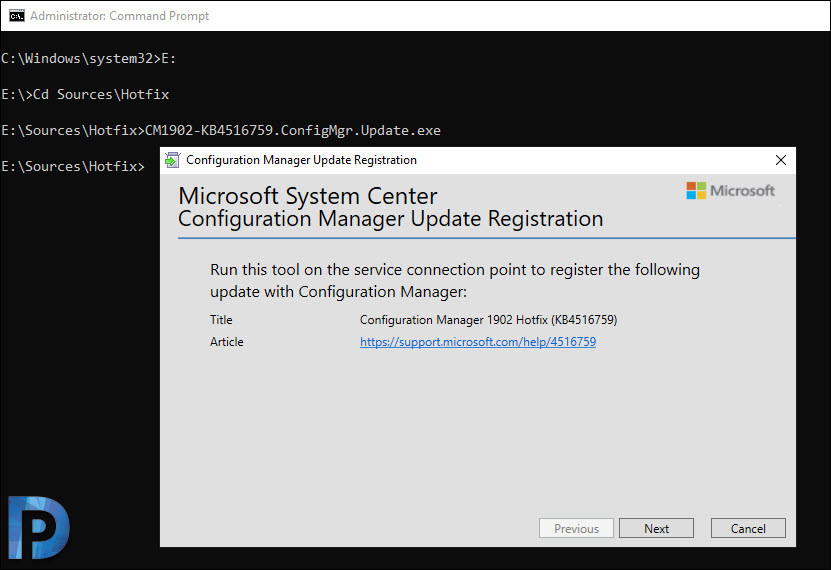 Using SCCM Update Registration Tool to Import Hotfix