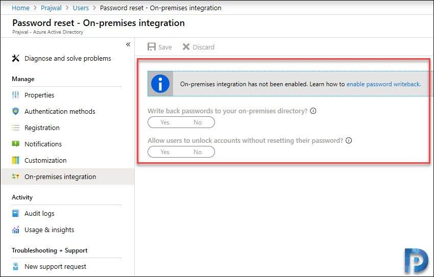 Configure Password Writeback in Azure AD