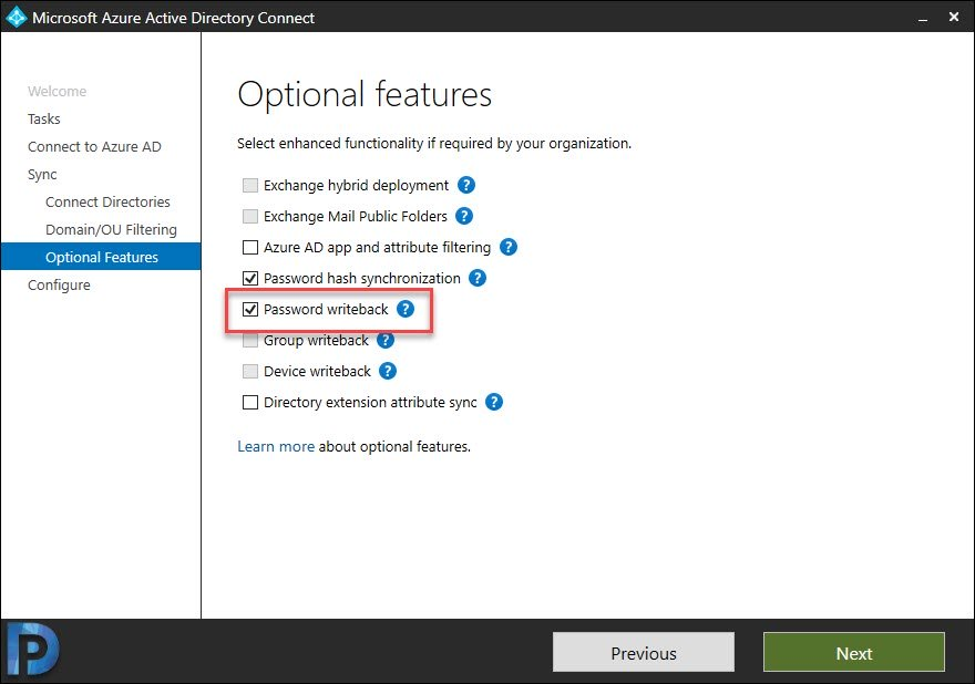 Configure Password Writeback in Azure AD