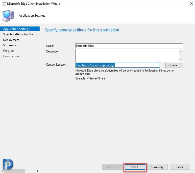 Create Deploy Microsoft Edge Using SCCM