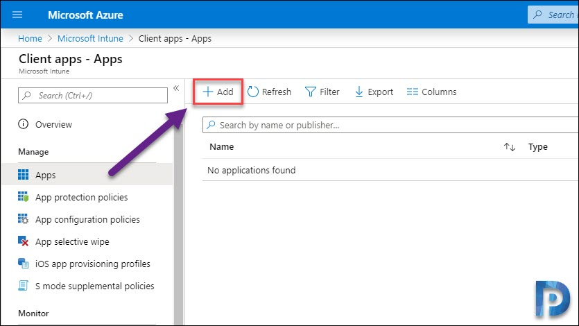 Add Intune Application