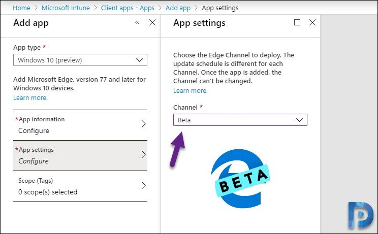 Select Beta Channel