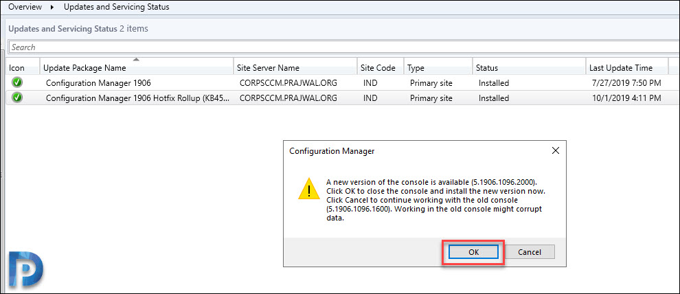 Install SCCM Hotfix Rollup KB4517869