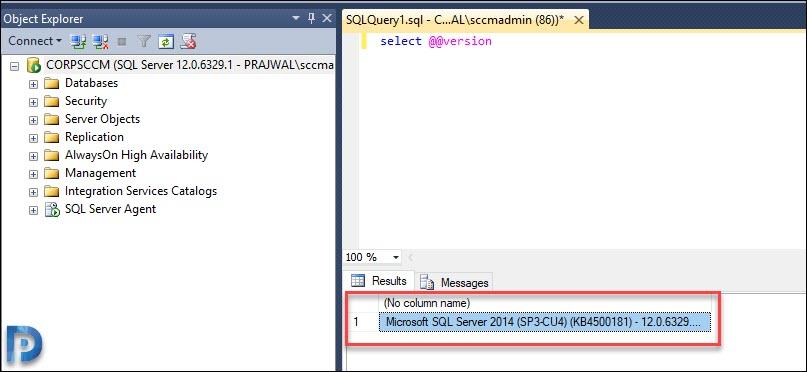 Determine the SQL Server Version