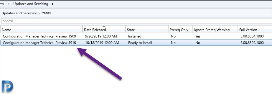 Configuration Manager Technical Preview 1910