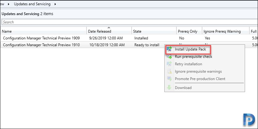 Install SCCM Technical Preview 1910