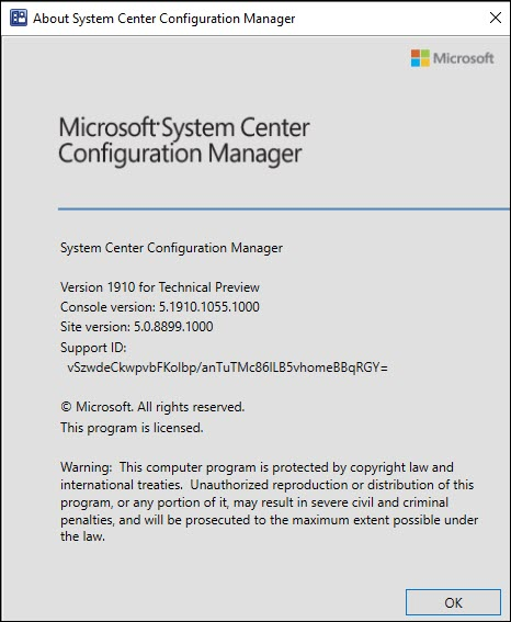 About Configuration Manager technical Preview 1910