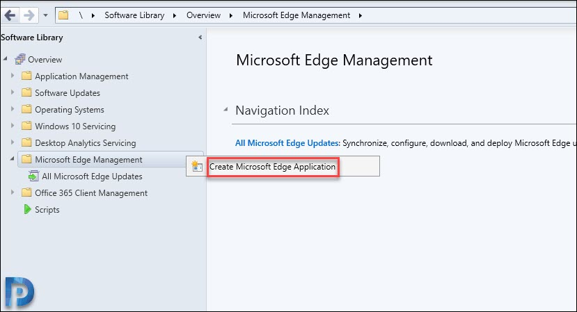 Create Microsoft Edge Application