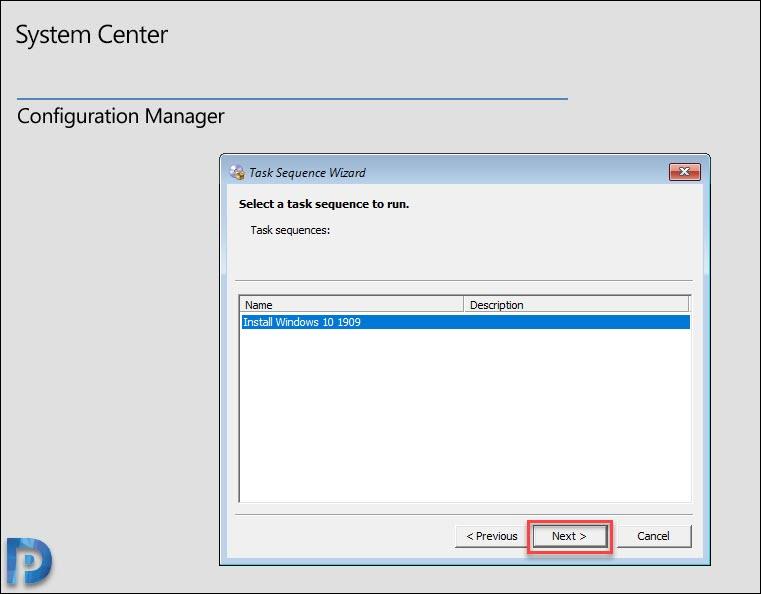 Deploy Windows 10 1909 Using SCCM