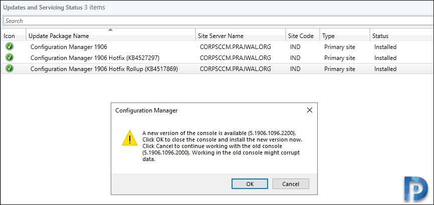 SCCM Console Upgrade