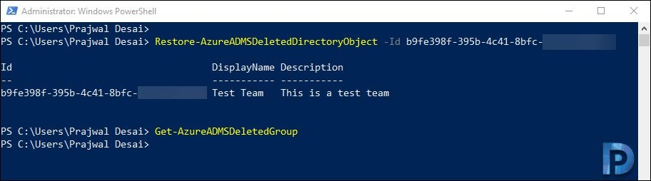 Restore a Deleted Team in Microsoft Teams