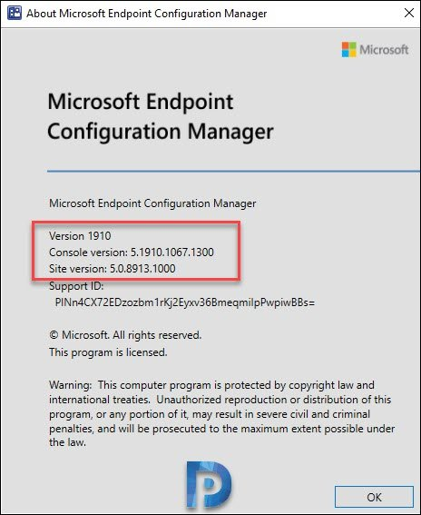 Verify Configuration Manager 1910 Update Install