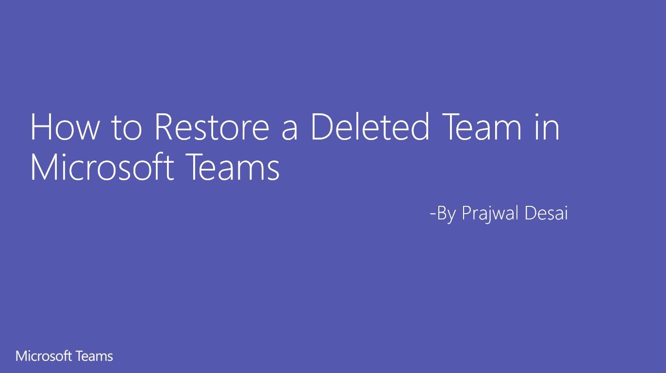 Teams restore ftimg