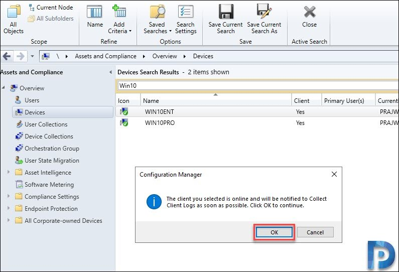 Client Log Collection in SCCM TP 1912