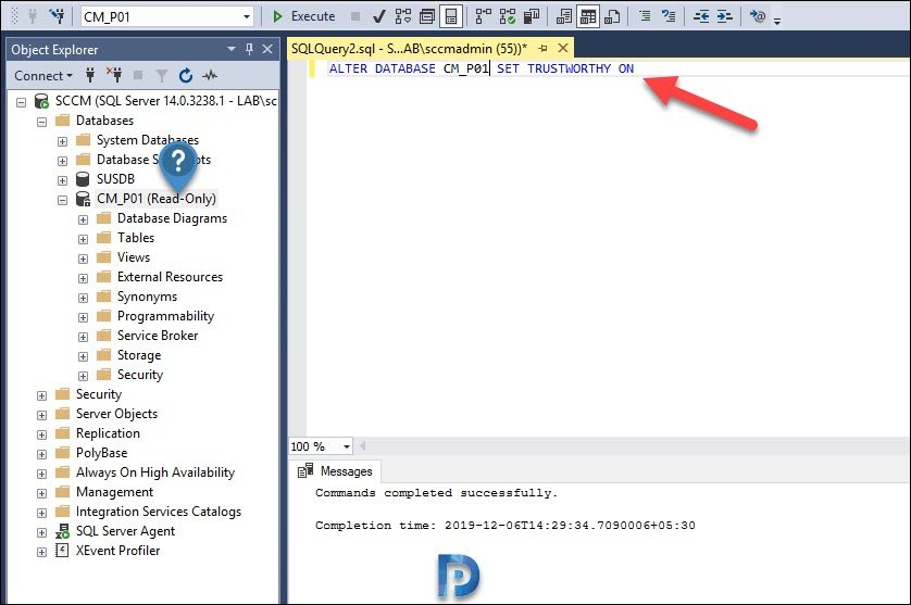 Move SCCM Database to Another Drive Snap12