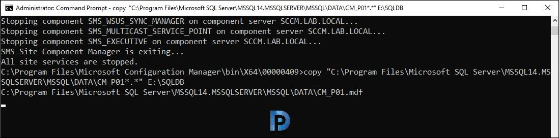 Move the SCCM Database to another drive