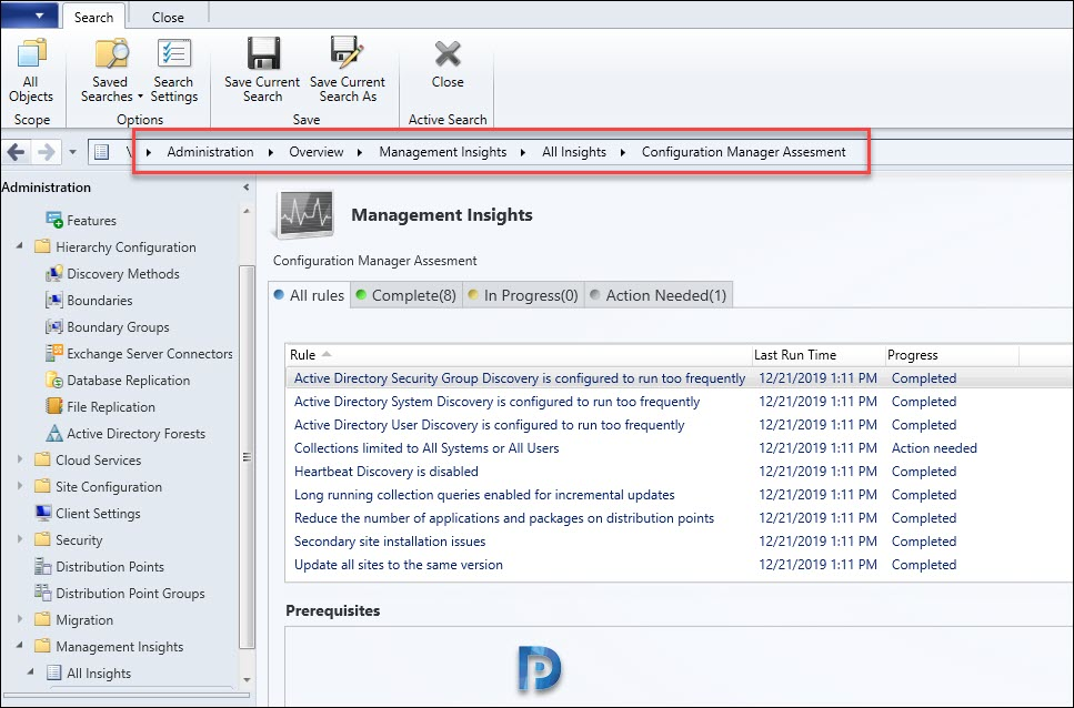 ConfigMgr Management Insight Rules