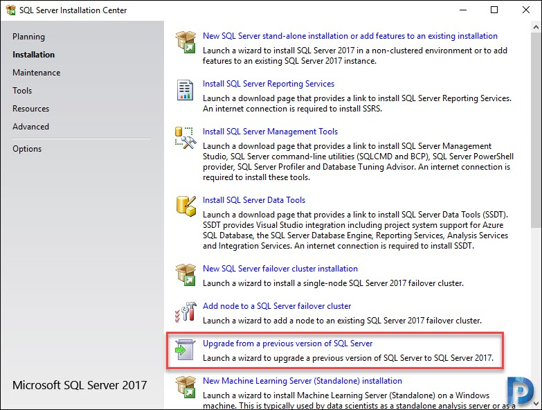 Upgrade SQL Server 2014 to 2017