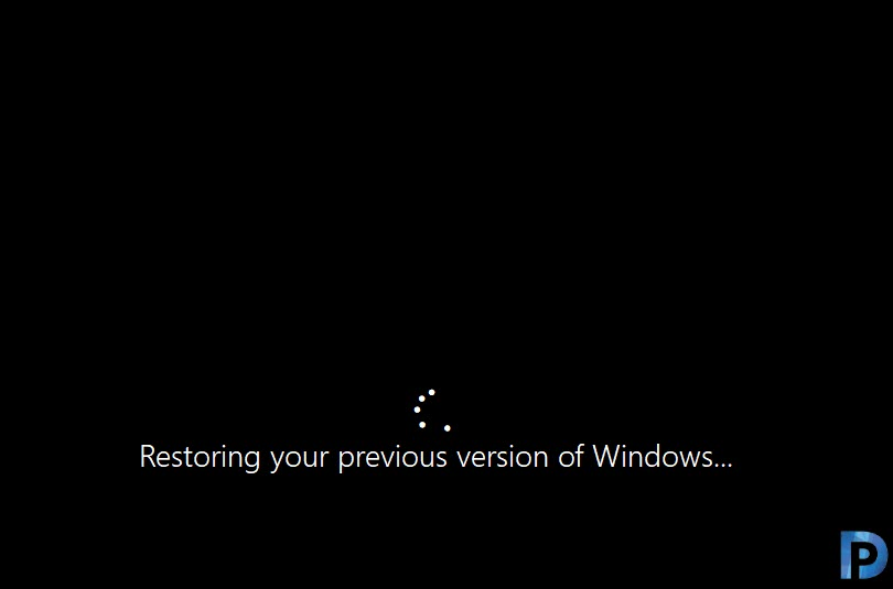 Restoring your previous version of Windows 10