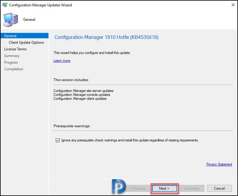 Configuration Manager 1910 Hotfix KB4535819