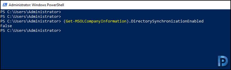 Check Directory Synchronization Status