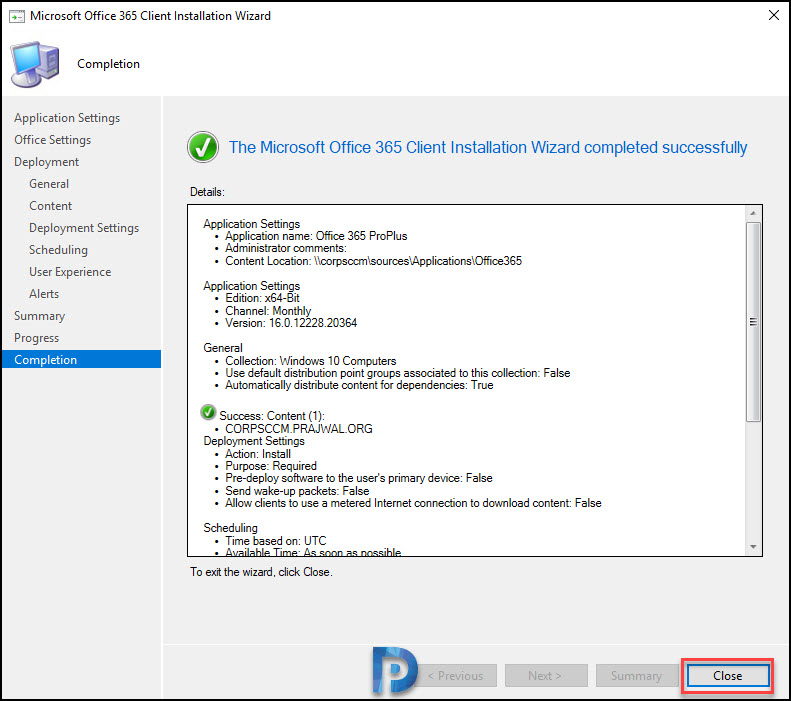 Create Office 365 Installer using SCCM Snap19