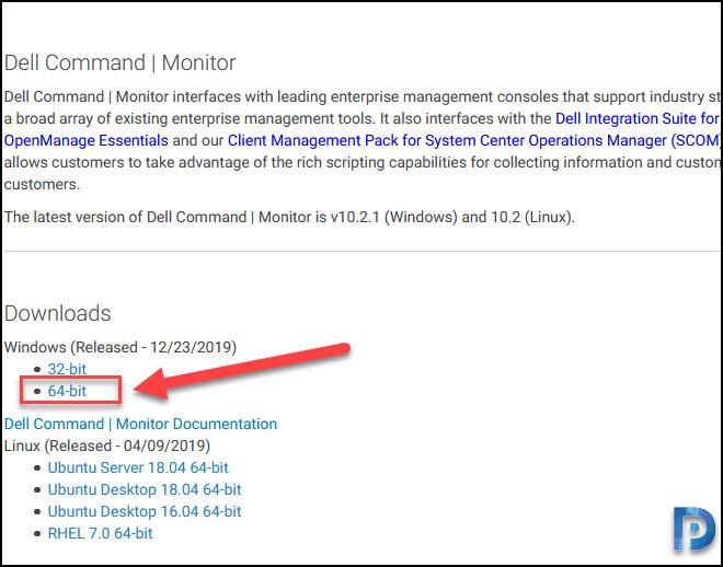 Download Dell Command Monitor