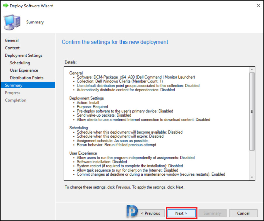 Deploy Dell Command Monitor using SCCM Snap13