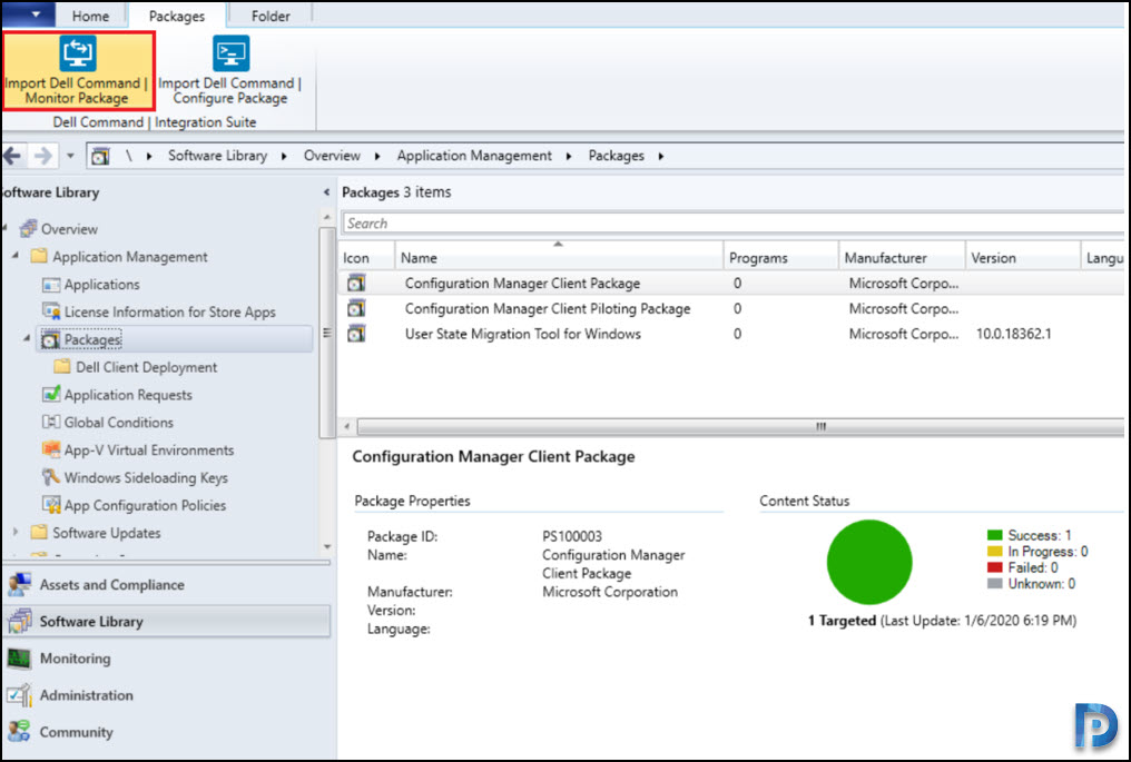 Deploy Dell Command Monitor using SCCM Snap2