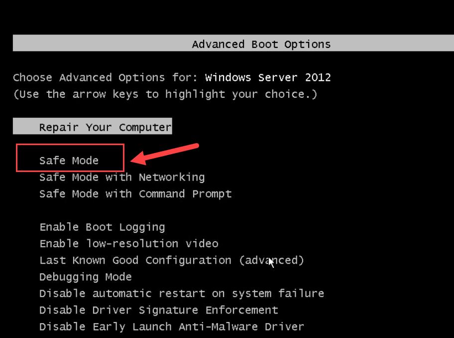 Fix Windows Server 2012 Reboot Loop Issue