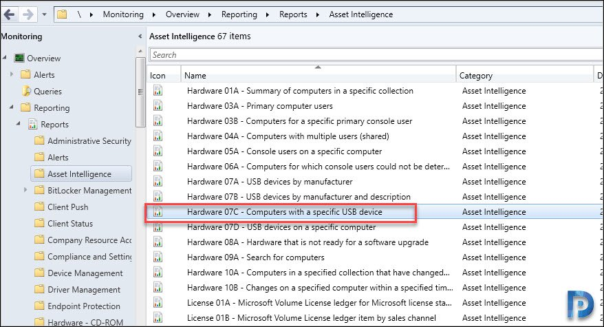 Configuration Manager USB Device Inventory