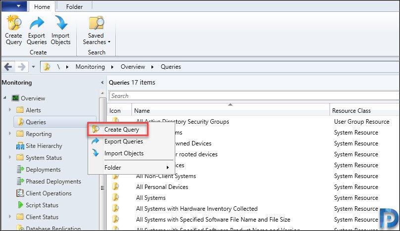Create USB Device SCCM query