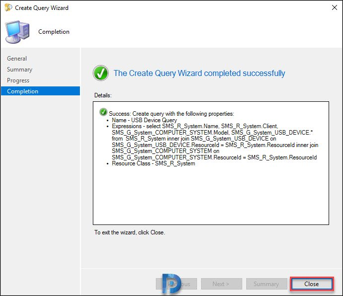 Configuration Manager USB Device Inventory Snap8