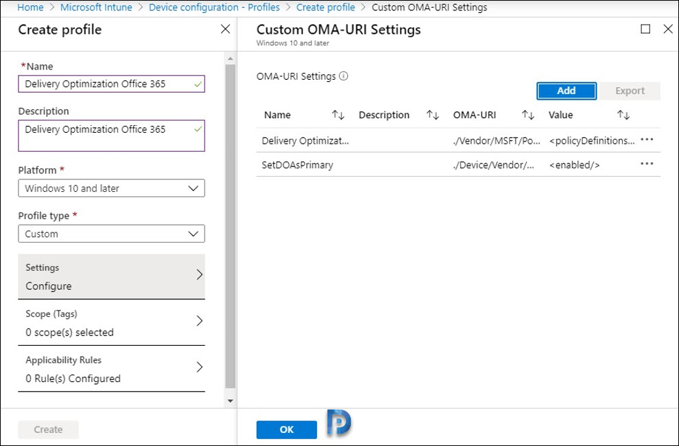 Configure Delivery Optimization with Microsoft Intune Snap4