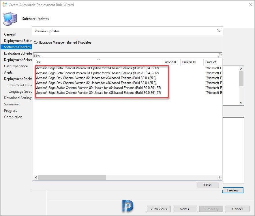Preview Microsoft Edge Updates