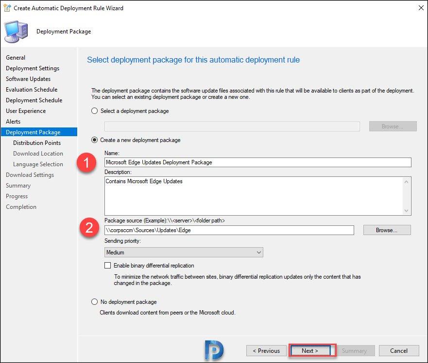 Create Microsoft Edge Updates Deployment package