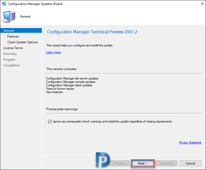 Install Configuration Manager Technical Preview 2001.2