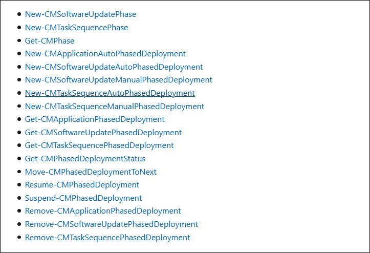 New cmdlets for phased deployments
