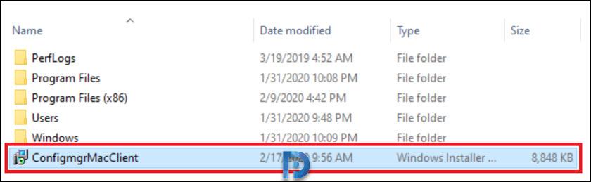 Download SCCM MacOS Client (64-bit)