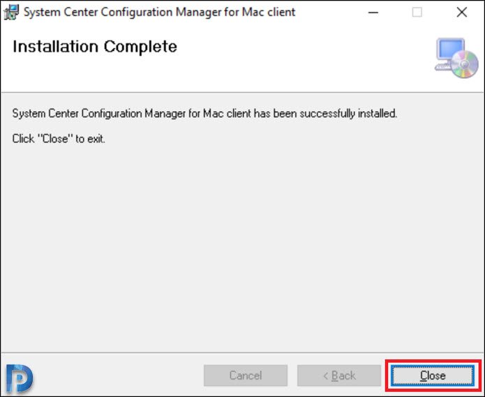 ConfigmgrMacClient.msi install