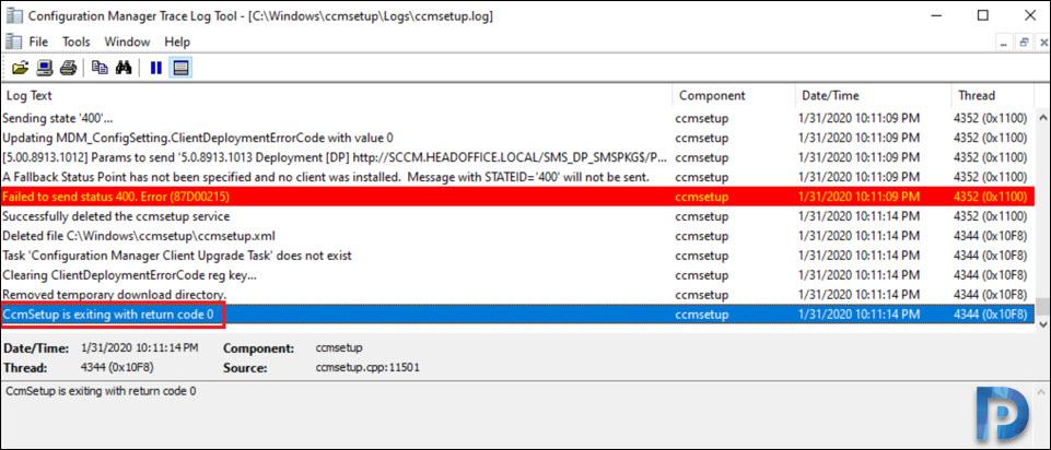 SCCM Client Agent Install Error 0x80200010 Snap8
