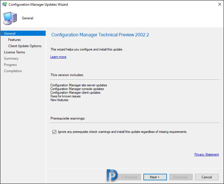 Install Configuration Manager Technical Preview 2002.2