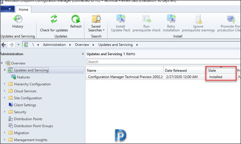 SCCM 2002.2 technical preview installed